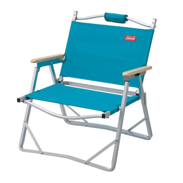 Coleman Aluminum Low Chair - Blue