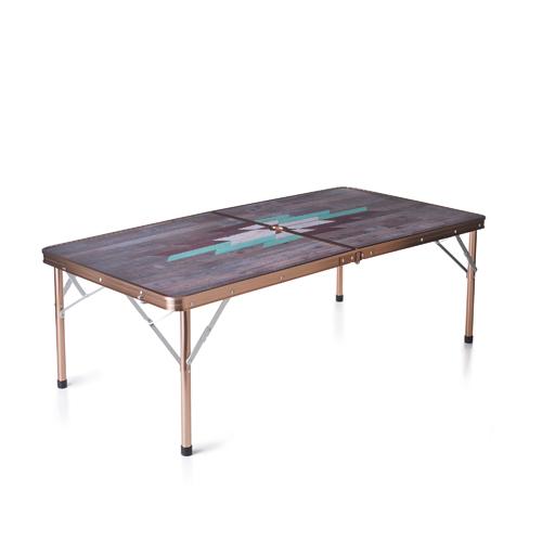 Coleman x Indigo Label Mosaic Wood Folding Table